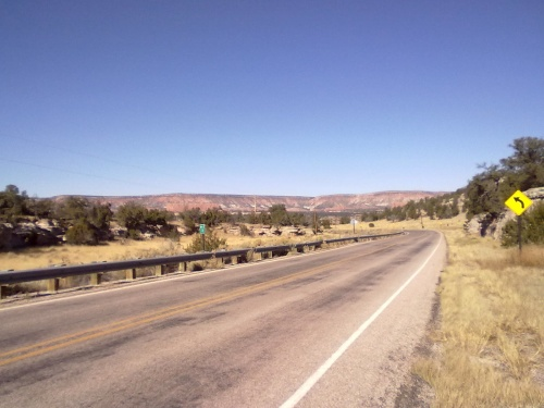 toward I-40 from CJ's